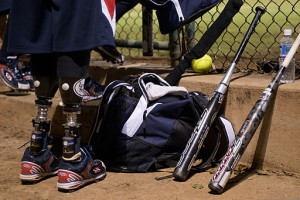 Joshua_Wege,_with_the_Wounded_Warrior_Amputee_Softball_Team,_waits_to_take_the_field_130107-F-ZB240-426